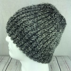Accessories - Homemade unisex gray black white knit winter hat